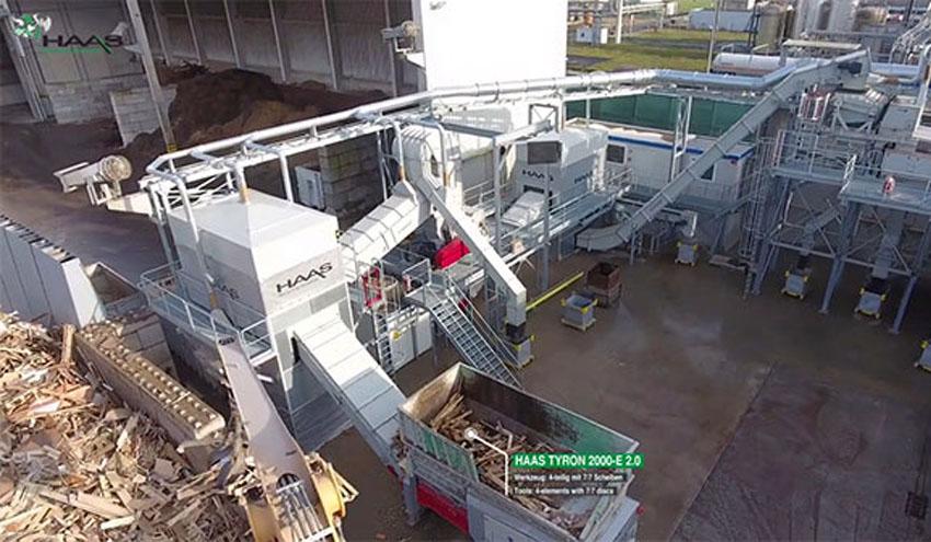 Planta de reciclaje Haas para restos y residuos de madera