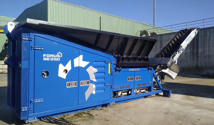 Eggersmann pone en servicio un nuevo triturador FORUS en una planta de Castilla y León