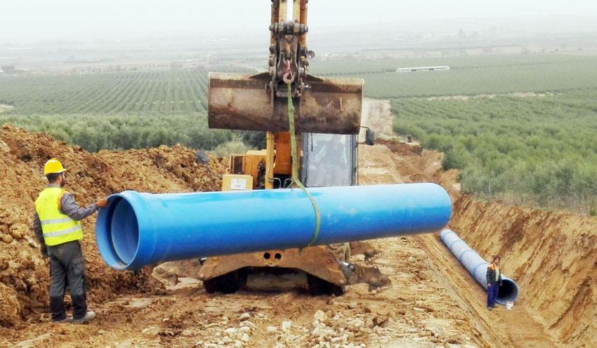 Molecor suministra su tubería TOM® de PVC DN800 mm PN16 en la obra Regadío de Arroyo de Calamonte