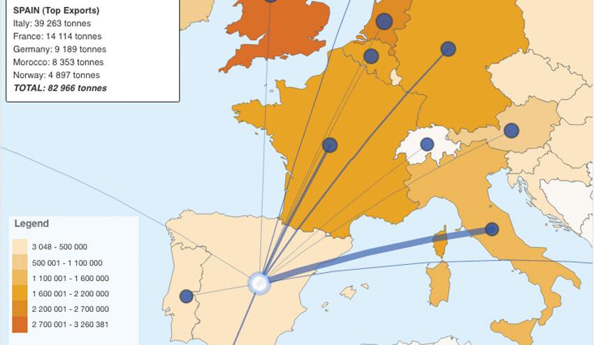 ¿Cómo se mueven los residuos en la Unión Europea?