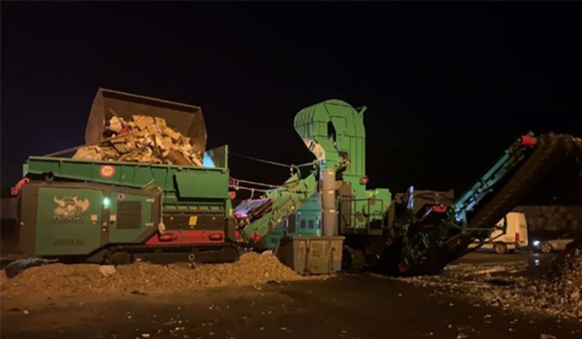 Planta de reciclaje móvil para residuos y madera