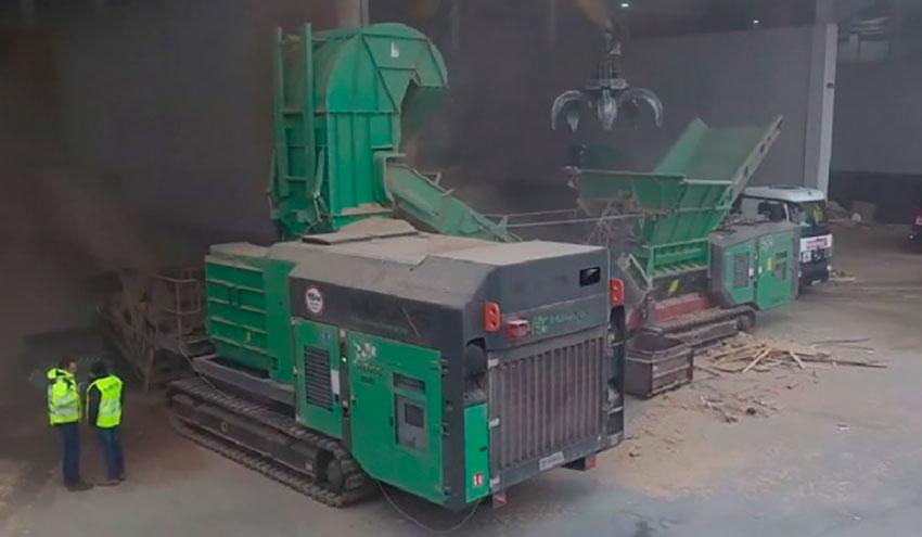 Planta de reciclaje móvil para madera de HAAS