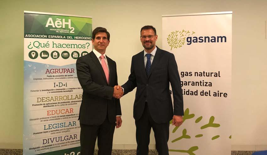 Gasnam y la Asociación Española del Hidrógeno firman un acuerdo de colaboración