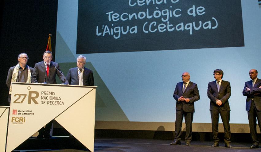 Cetaqua recoge el Premio Nacional de Investigación 2016