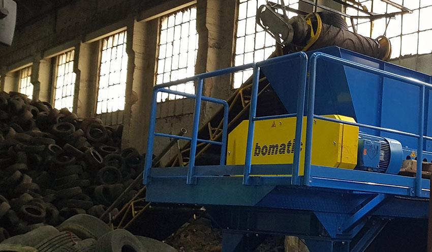 TGMM proyecta una nueva planta de reciclaje de neumáticos con equipos Bomatic