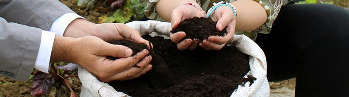 GHK suministrará compost de máxima calidad para abonar las huertas ecológicas de Kutxa Ekogunea