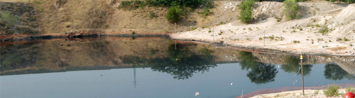 Arranca la primera fase del proyecto de descontaminación de la balsa de hidrocarburos de Arganda del Rey