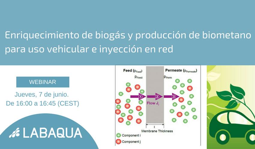 Webinar: Enriquecimiento de biogás y producción de biometano para uso vehicular e inyección en red