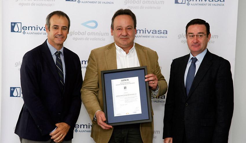 EMIVASA, primera empresa del sector que logra la certificación de AENOR en seguridad de la información