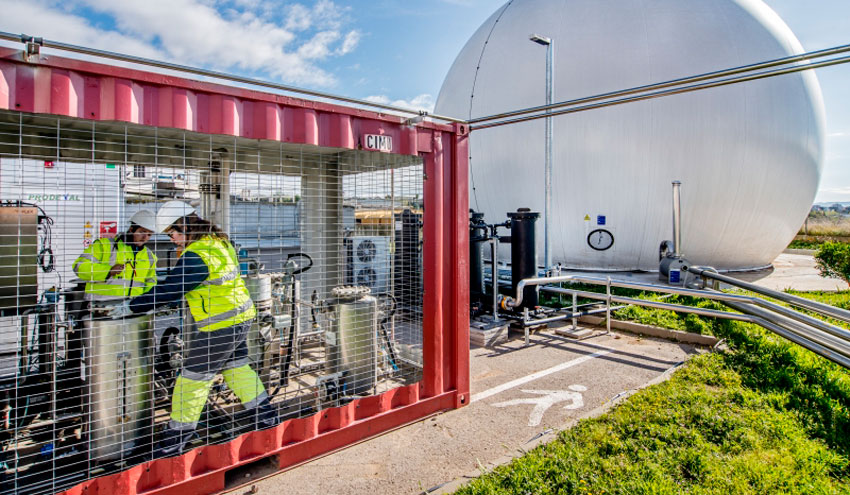 Un consorcio catalán produce gas renovable sostenible a partir de aguas residuales