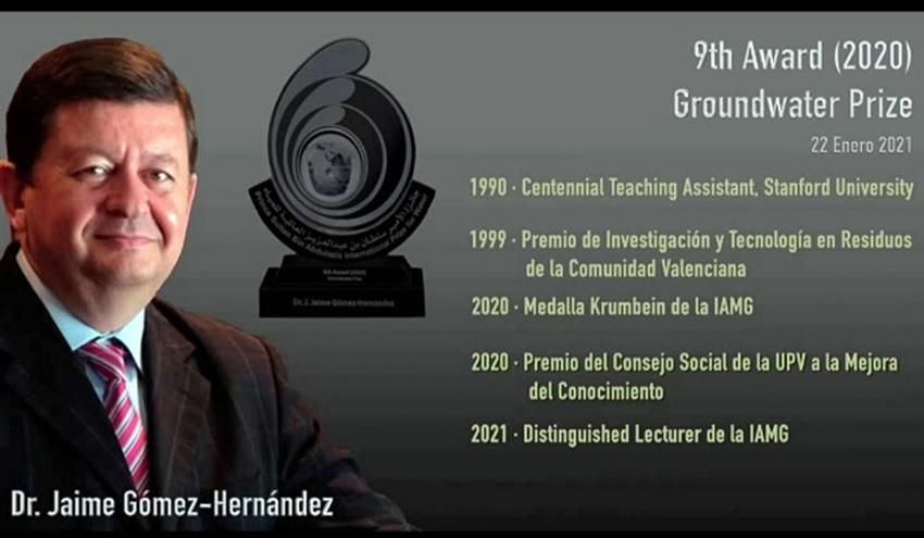 "Jaime Gómez recibe el ""Prince Sultan bin Abdulaziz International Prize for Water"""