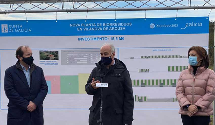 Xunta de Galicia, a través de Sogama, invierte 15,5 millones en la futura planta de biorresiduos de Vilanova