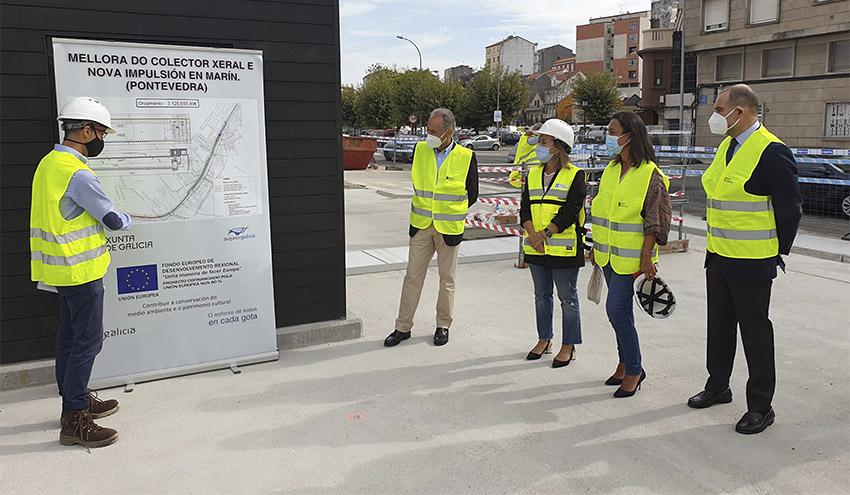 Concluyen las obras de la nueva estación colectora y de bombeo de Marín