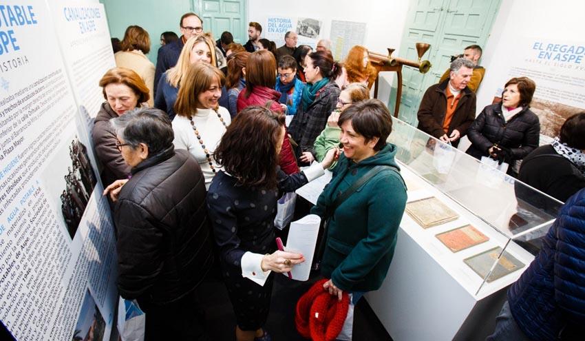 """La exposición """"ASPE, HECHOS DE AGUA"""" recibe hasta el momento más de 1.500 visitas"""
