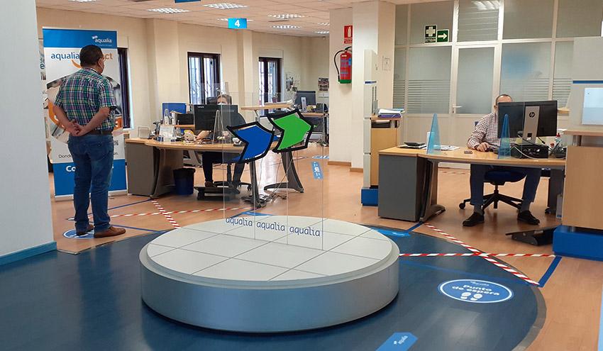 Aqualia reabre sus oficinas de atención al cliente e inicia la normalización de las tareas