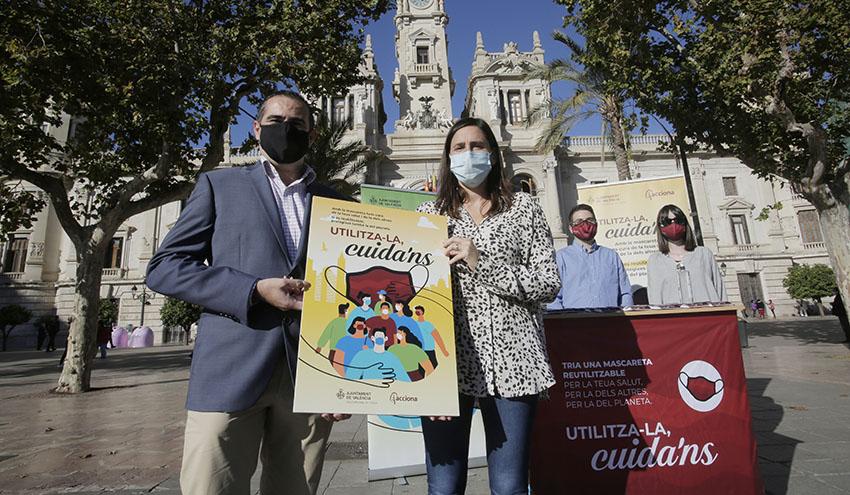 El Ayuntamiento de Valencia y ACCIONA repartirán mascarillas reutilizables en los barrios de menor renta