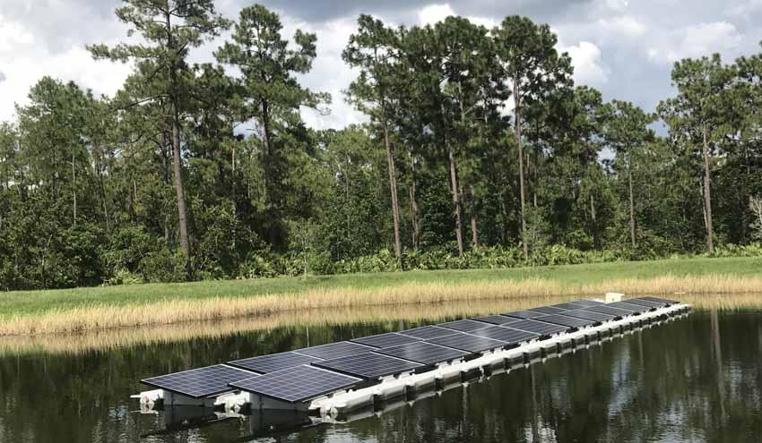 Investigación de la energía solar flotante