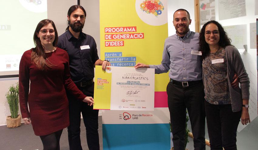 Nanoplastics gana el premio al mejor proyecto innovador del Programa de Generación de Ideas