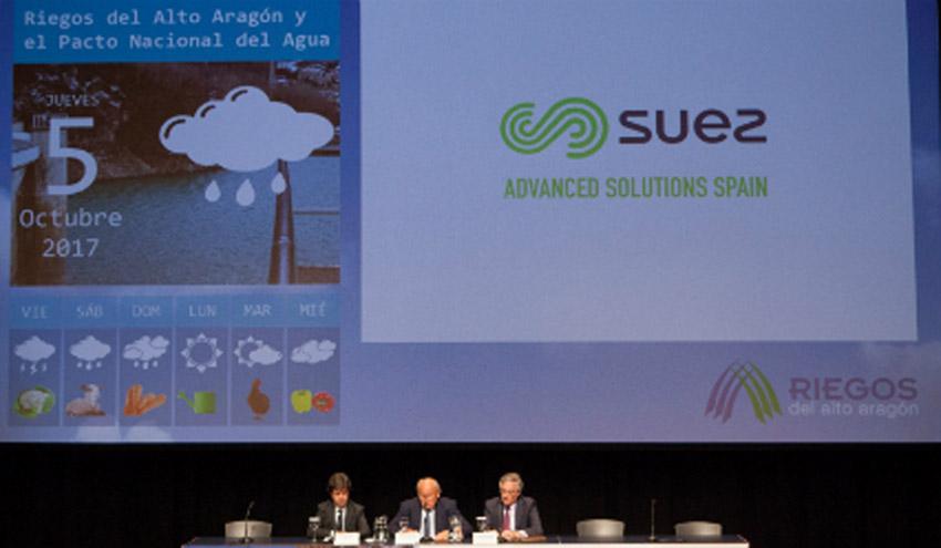 SUEZ participa en la 19ª Jornada Informativa de Riegos del Alto Aragón y el Pacto Nacional del Agua