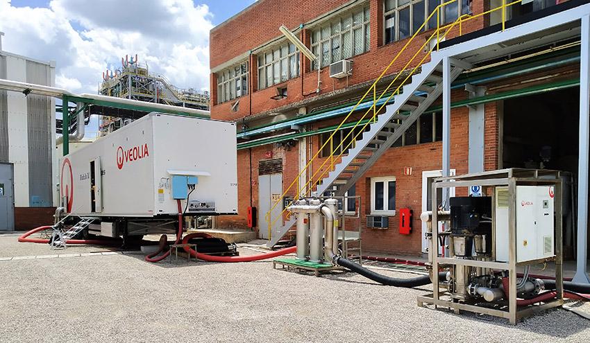 Veolia pone en marcha una planta móvil de ósmosis inversa en la planta de INOVYN en Martorell