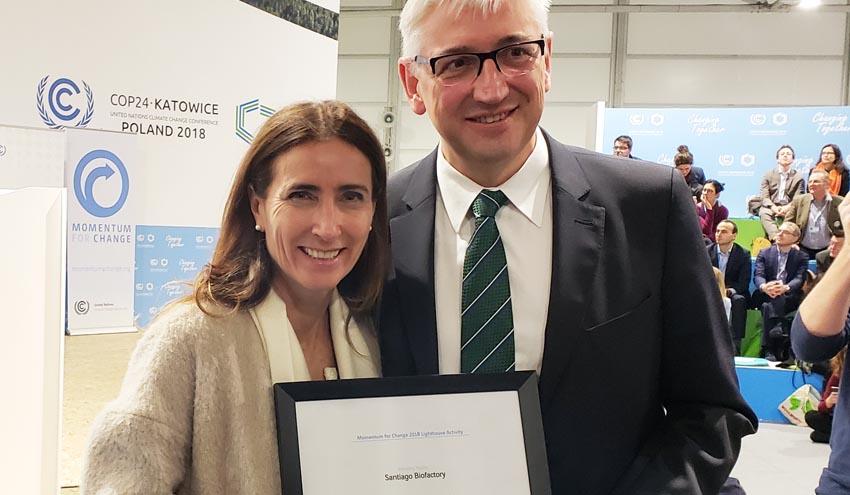 SUEZ recibe el premio 'Momentum for Change' de la ONU por el desarrollo de sus biofactorías