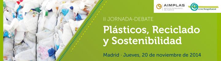 AIMPLAS y CICLOPLAST organizan la II Jornada-Debate Plásticos, Reciclado y Sostenibilidad el próximo 20 de noviembre