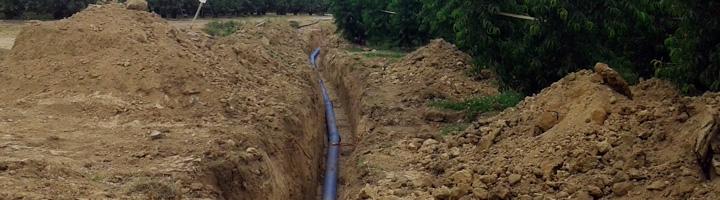 Comienza a funcionar el nuevo ramal que suministra agua al municipio de Benavent de Segria en Lleida