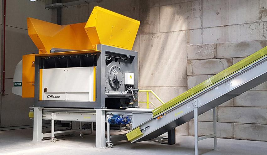 UNTHA CR2000: la potente trituradora para el reciclaje de desechos reutilizables