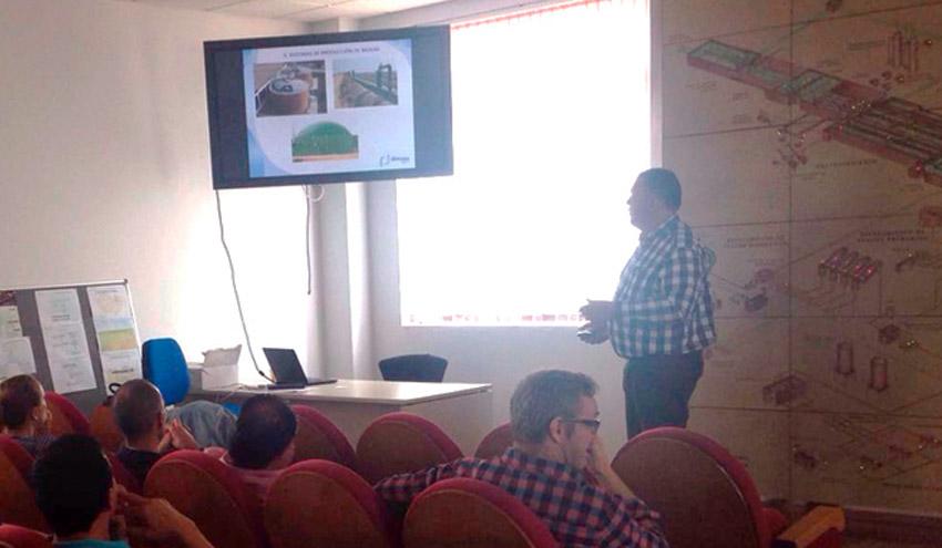 Dimasa Grupo imparte para Aqualia una formación sobre cogeneración en la depuradora de Salamanca