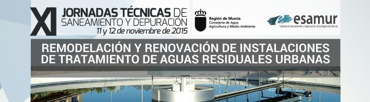 Ya disponible el programa de las XI Jornadas Técnicas de Saneamiento y Depuración de ESAMUR