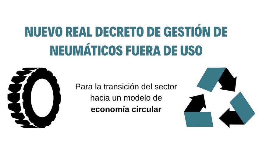 El Gobierno aprueba un Real Decreto para que la gestión de neumáticos fuera de uso sea circular