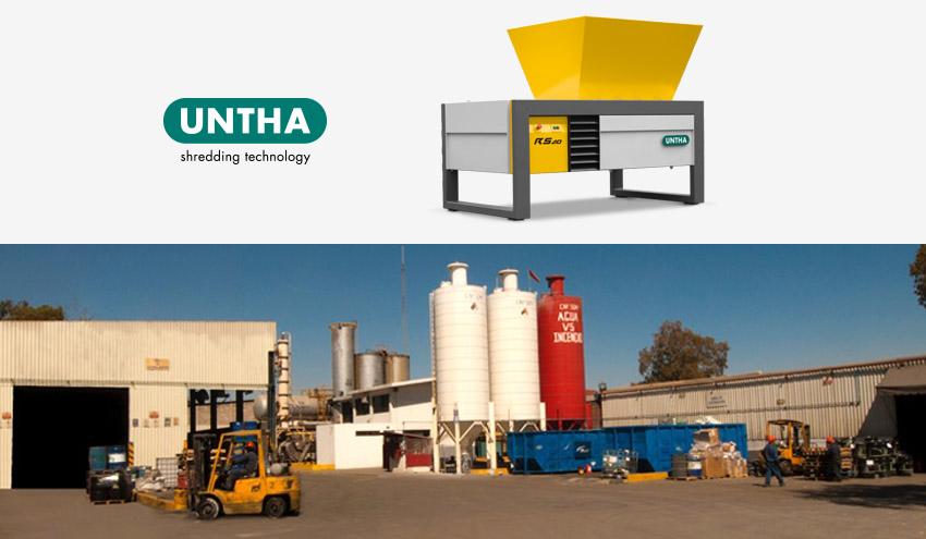 SITRASA Irapuato incorpora un triturador UNTHA RS para el tratamiento de residuos industriales