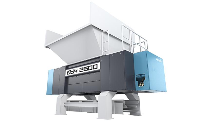 Vecoplan presenta su nueva trituradora VRZ para reciclaje y procesamiento de residuos de madera