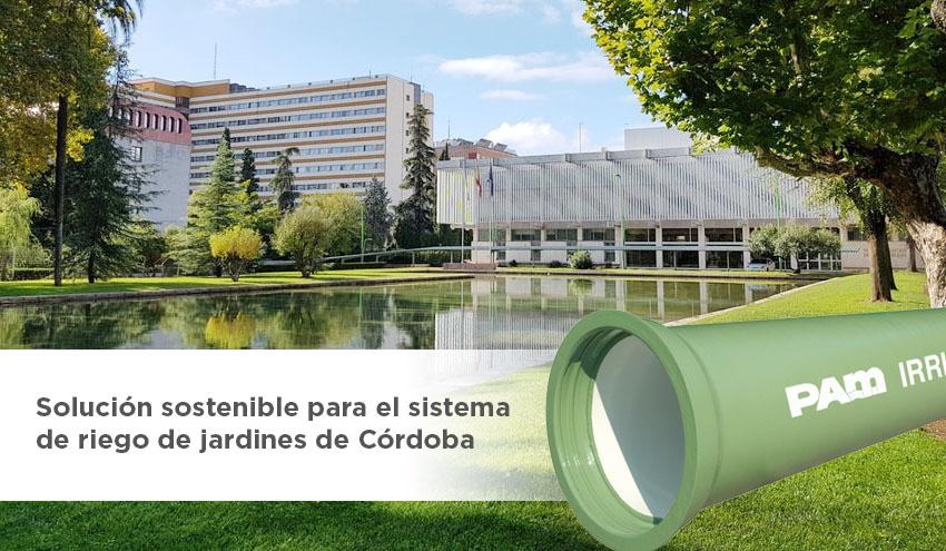 Irrigal de Saint-Gobain PAM como solución sostenible para el sistema de riego de jardines de Córdoba