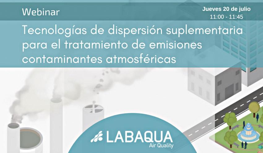 Webinar LABAQUA Air Quality: Tecnologías de dispersión suplementaria para emisiones contaminantes