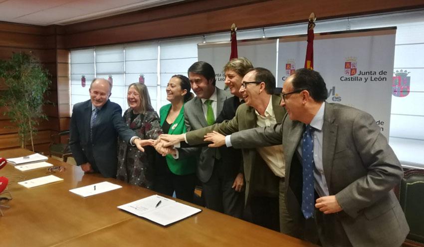 Suscrito el convenio para la ejecución y explotación de la depuradora y emisarios de Soria