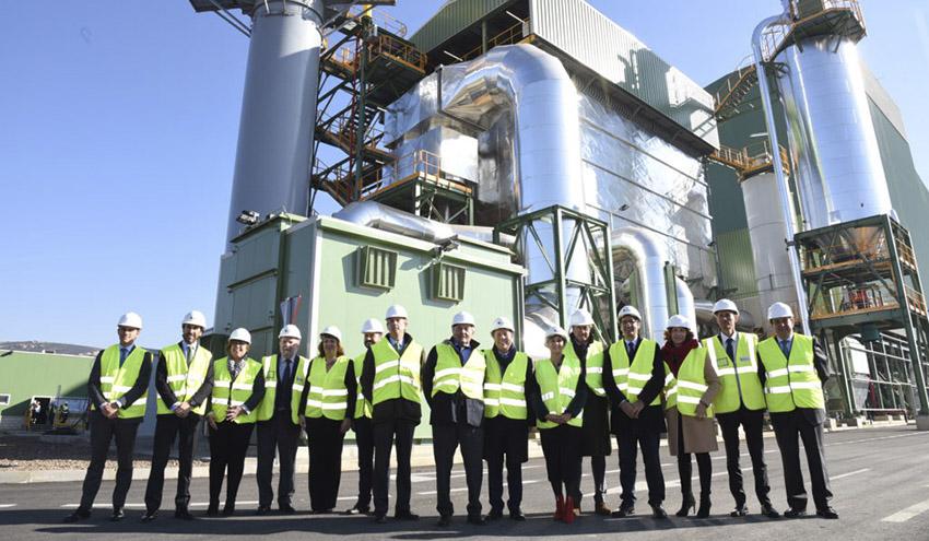 Inaugurada la planta de generación de energía con biomasa de Ence en Puertollano