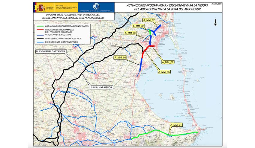 La Mancomunidad de los Canales del Tabilla renovará la red de agua potable en la zona del Mar Menor