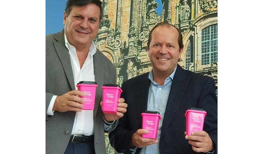 Minicontenedores rosa de Sogama para apoyar la lucha contra el cáncer de mama