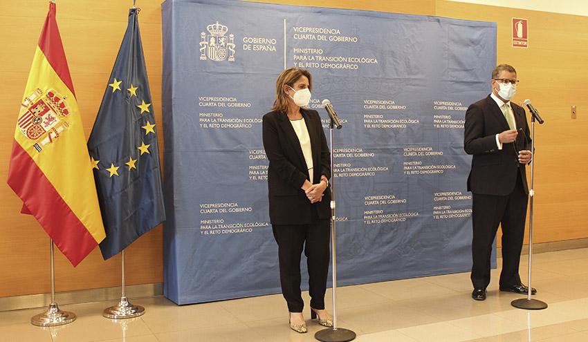 Teresa Ribera y Alok Sharma acuerdan intensificar la cooperación para garantizar el éxito de la COP26