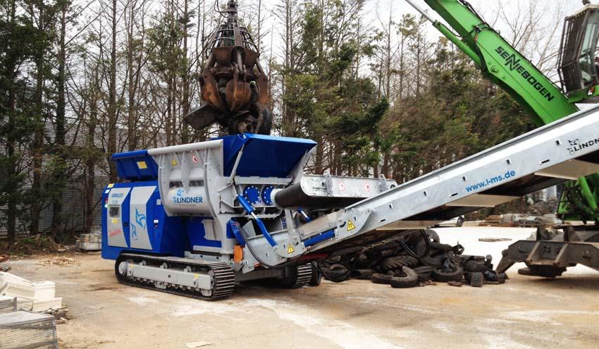 Lindner Recyclingtech pone en marcha un triturador móvil Urraco 75 DK en Cantabria