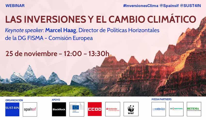 Webinar SUST4IN & SPAINSIF: Las inversiones y el cambio climático