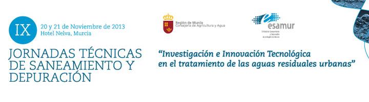 Todo listo para las IX Jornadas Técnicas de Saneamiento y Depuración que organiza ESAMUR el día 20 de noviembre en Murcia
