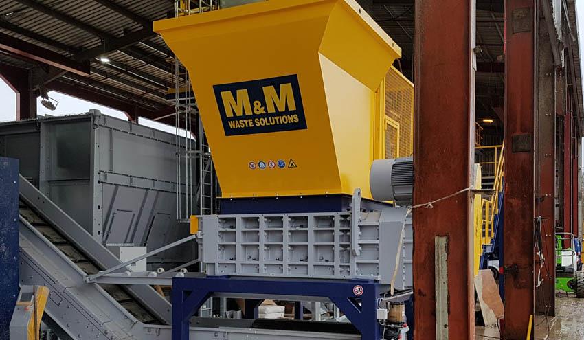 M&M Waste Solutions tiene como objetivo impulsar el reciclaje gracias a la trituradora RS100 de UNTHA