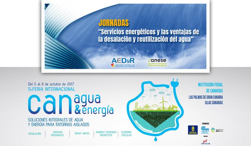 """AEDyR organiza la jornada """"Servicios energéticos y las ventajas de la desalación y reutilización"""" en Canagua 2017"""