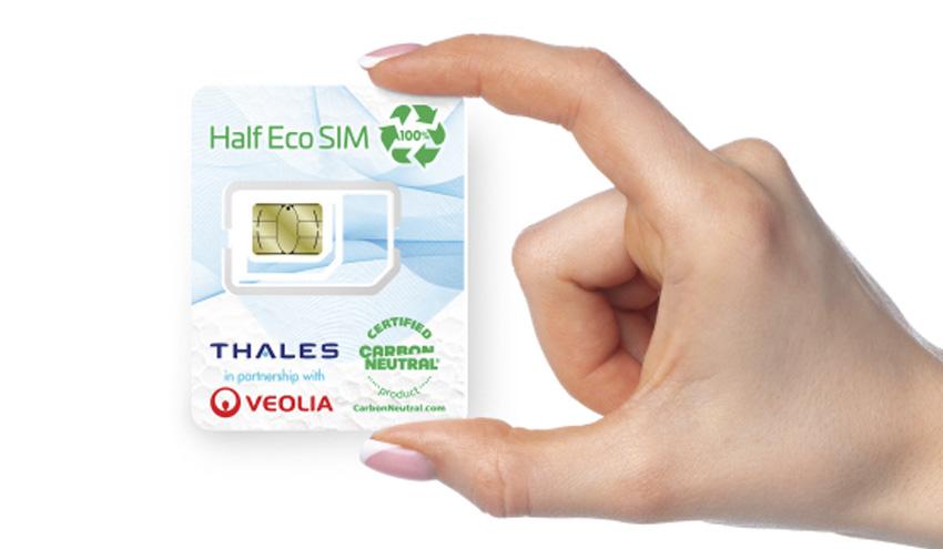 Thales y Veolia se alían para crear la primera tarjeta SIM fabricada con plástico reciclado