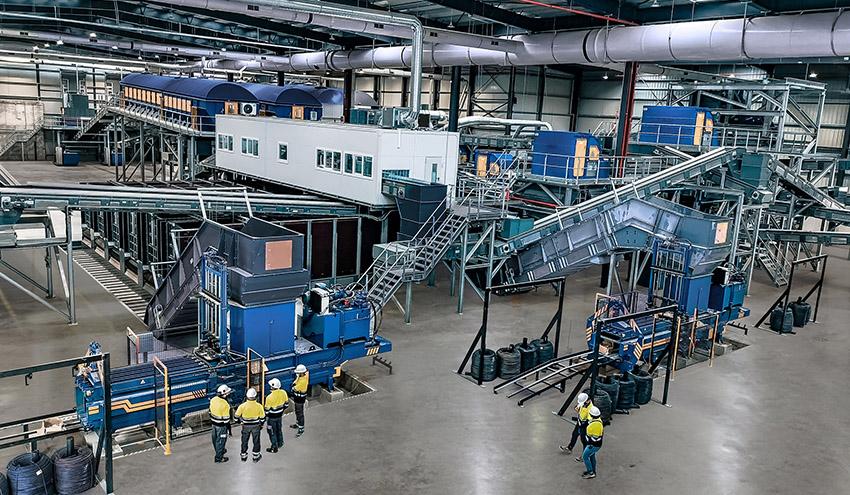STADLER instala la nueva planta de tratamiento mecánico del Área Ambiental de Ca na Putxa en Ibiza