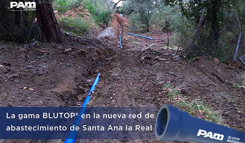 Tubería BLUTOP® de Saint-Gobain PAM en la nueva red de abastecimiento de Santa Ana la Real