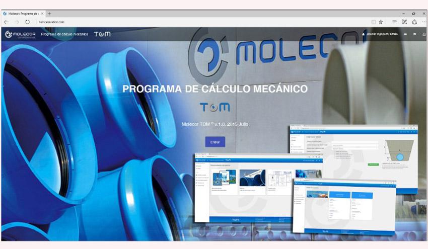 Molecor® lanza el nuevo programa de cálculo mecánico para tuberías TOM® de PVC-O