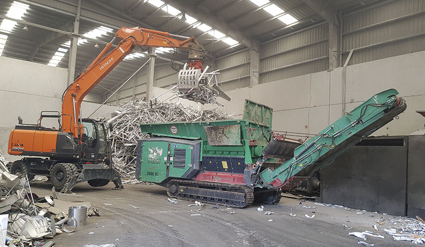 Mejora la línea de trituración de aluminio con HAAS